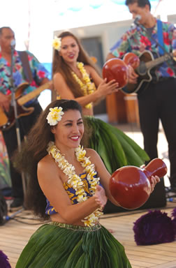 Hawaii cruise packages with Hula Girls